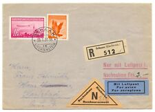 Liechtenstein, 1936 Zeppelin, 1 FR. on registered C.O.D. cover to Prague