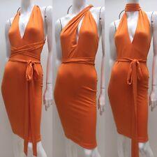 Zachary sz S Orange Stretch Blair Dress