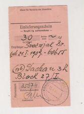 SLOVENIA,Germany WW II money order KRAINBURG KRANJ to Dachau 1944,concentration