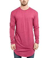 Phoenix Super Oversize Longsleeve Shirt Maroon Longshirt Tee Herren Extra Lang