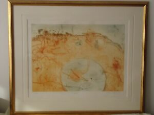 """John Olsen Limited Edition Coloured & Framed Lithograph - """"Outcamp"""" 1996"""