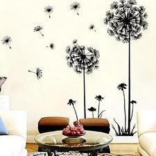 HOT Modern Black&White Dandelion Flower Wall Sticker Art Removable Home Decor FW