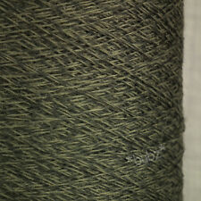 SUPER SOFT SOCK YARN MERINO WOOL 500g CONE 2 PLY KHAKI GREEN MARL TWEED KNITTING