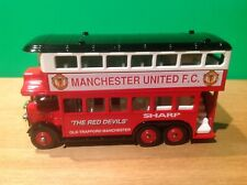 Lledo VERY RARE AEC Renown Bus - MANCHESTER UNITED FOOTBALL CLUB (Wembley Dest)