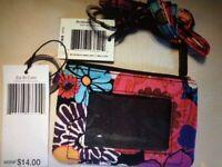 Vera Bradley Zip ID Case and Lanyard - Floral Fiesta - NWT