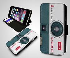 Kodak Hawkeye Instamatic R4 Cámara Vintage Gadget Funda de Teléfono Abatible de Cuero