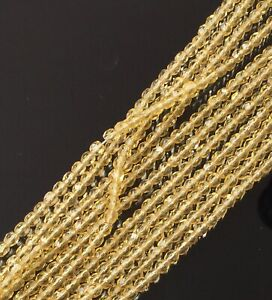 100 Trade Czech Transparent Citrine Round Faceted fire Polished Glass beads-4mm