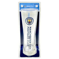 MANCHESTER CITY FC WORDMARK PERONI TALL BEER PINT GLASS 24 CM NEW XMAS GIFT