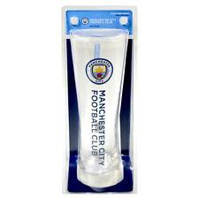 Manchester CITY FC Wordmark PERONI Tall Birra Pinta in vetro 24 cm nuovo regalo di Natale