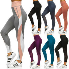 Leggings Leggins Trainingshose Sporthose Slim Fit Fitness Damen BOLF Unifarben