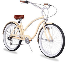 "26"" Beach Cruiser Bike Bicycle Firmstrong Chief Women 7 spd vanilla"