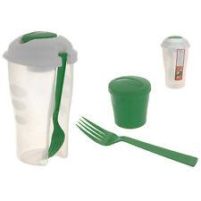 Salat Lunchbox to go Becher Salatbecher Obst Joghurt Gabel mit Dressing Behälter