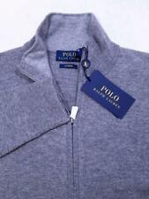 Polo Ralph Lauren 100% Cashmere Full Zip Sweater Cardigan Gray SZ XS NWT $350