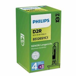 PHILIPS LongerLife D2R Xenon Lamp 7 Years Warranty 85V 35W P32d-3 85126SYC1 x1