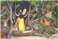 Disney Fine Art Limited Edition Canvas Snow White's Discovery-St. Laurent