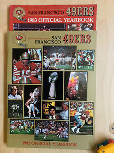 SF 49ers YEARBOOKS lot 2  1982, 1983  WALSH + MONTANA Super Bowl XIX Champs NM
