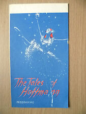 Ballet Programme- THE TALES OF HOFFMANN