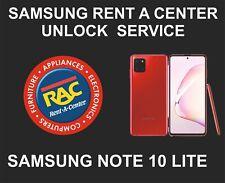 Samsung Rent A Center Unlock Service, Samsung Note 10 Lite