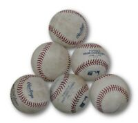 6 (Six) Count Lot Of Game Used Baseballs Used in a Game At Dodgers Stadium
