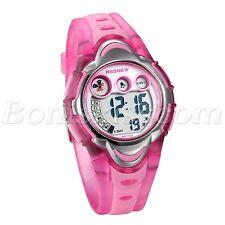 Student Kids Fashion LED Alarm Date Rubber Waterproof Sports Digital Wrist Watch