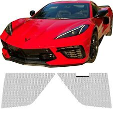 CCG MESH GRILL KIT FOR A 2020 CHEVROLET CORVETTE C8 GRILLE PRE-CUT 2 PIECE BLACK
