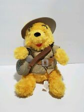 Disney Winnie The Pooh Plush Stuffed Animal Bear Safari Outfit Disneyland Resort