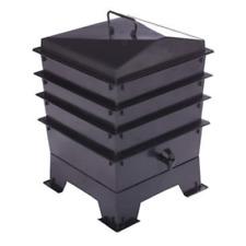Black Standard Pet Poo Wormery with 4 Trays - Compost Bin - 5 year warranty