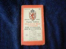 1947 OS Map on cloth - The Cuillins, Rhum and Canna