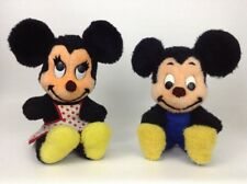 "Vintage Walt Disney Characters Mickey & Minnie Mouse 15"" Plush Stuffed Toy"