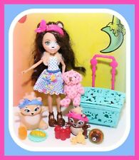 ❤️Enchantimals Paws for a Picnic Bren Bear Doll Accessories Pets Playset❤️