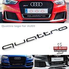 Audi quattro Grill Badge Logo Emblem RS3 RS4 RS6 A3 A4 A5 A6 S3 S4 S5 Q7 S line