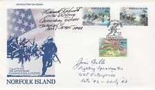 Norfolk Island Guadalcanal Landing Signed Lt Commander James Billo USN