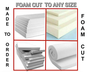 HIGH DENSITY UPHOLSTERY FOAM CUT TO SIZE - MADE TO ORDER - ALL SIZES AVAILABLE