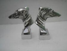 Metal Greyhound Book End Dog Statue Figurine Sculpture HOME DECOR EDH