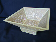 Asian Hand-painted Eco-Friendly Bamboo Bowl on Pedestal White Branches -Thailand
