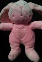 Next pink BUNNY RABBIT COMFORTER cuddly  soft toy lapin heart DOUDOU A9