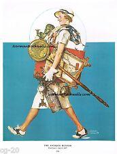 "Norman Rockwell print ""THE ANTIQUE HUNTER"" 11"" x 15"" estate tag yard garage sale"