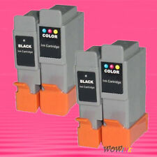 4P BCI-24 BK C INK CARTRIDGE FOR CANON iP1500 MP410 F20