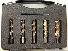 NEW 5 Piece High-Speed Annular Cutter Bit Set Spira-Broach USA MADE FREE SHIP