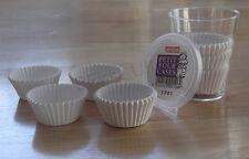 100 Pequeños Mini Petit Muffin Casos de Papel Blanco Liso Cup Cake no palo hornear