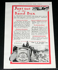1910 OLD MAGAZINE PRINT AD, DAVIES, BUCKEYE CAR CLEANSER, RESTORES THE LUSTRE!