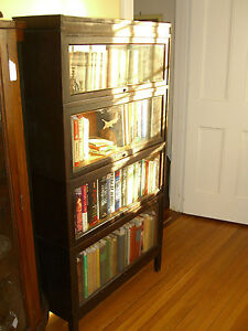 Shaw-Walker Antique Barrister/Lawyer (4) Tier Bookcase-VG Cond.