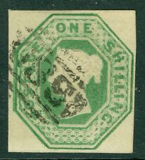 Sg 55 1/- Green Very fine used, Lightly placed numeral. Full margins good to.