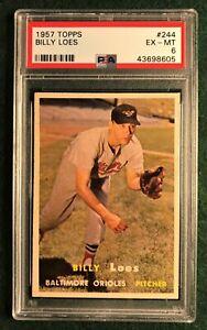 1957 Topps Baseball #244 Billy Loes Orioles - PSA 6