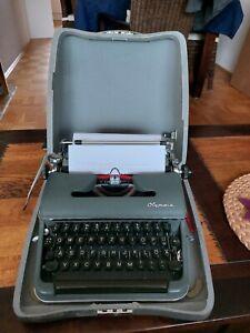 Alte Schreibmaschine Olympia mit Koffer,  gut erhalten Reise schreibmaschine