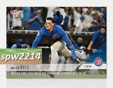 2018 Topps Now Javier Baez #455 Mad Dash Home after Stolen Base in 10th