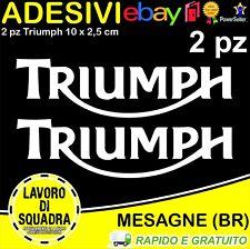 2 Adesivi Stickers TRIUMPH sppedtriple 675 bonneville streettriple tiger BIANCO