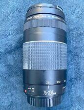 CANON EOS EF 75-300mm III Telephoto Zoom Lens Digital REBEL T3 7D 60D 7D & More!