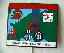 pin badge Football UEFA Champions League 1998/99 Bayern,Barcelona,Juventus,Inter