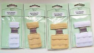 MAGNETIC BRA EXTENDERS - White or Nude 2 or 3 hook